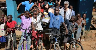 Bikes for the kids in Bwaise Slums Uganda - AFFCAD